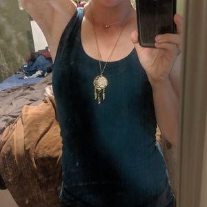 Gold dreamcatcher necklace